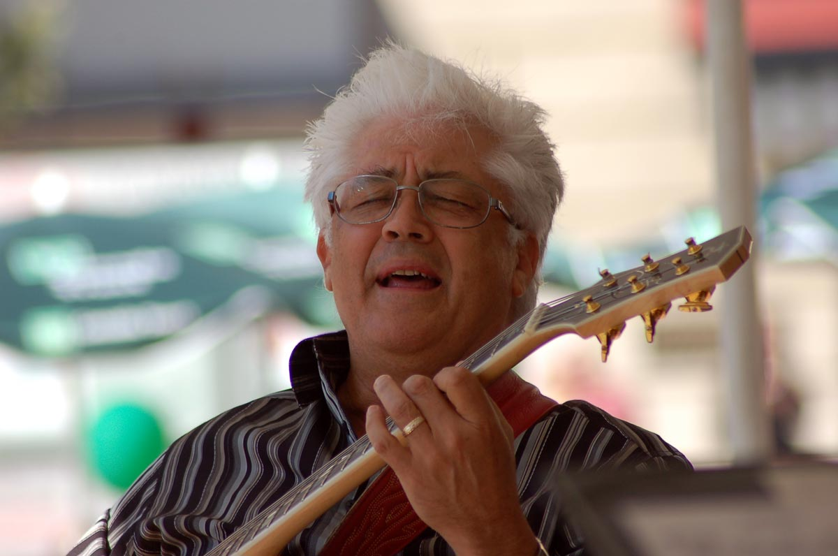 Larry Coryell performs for the crowd