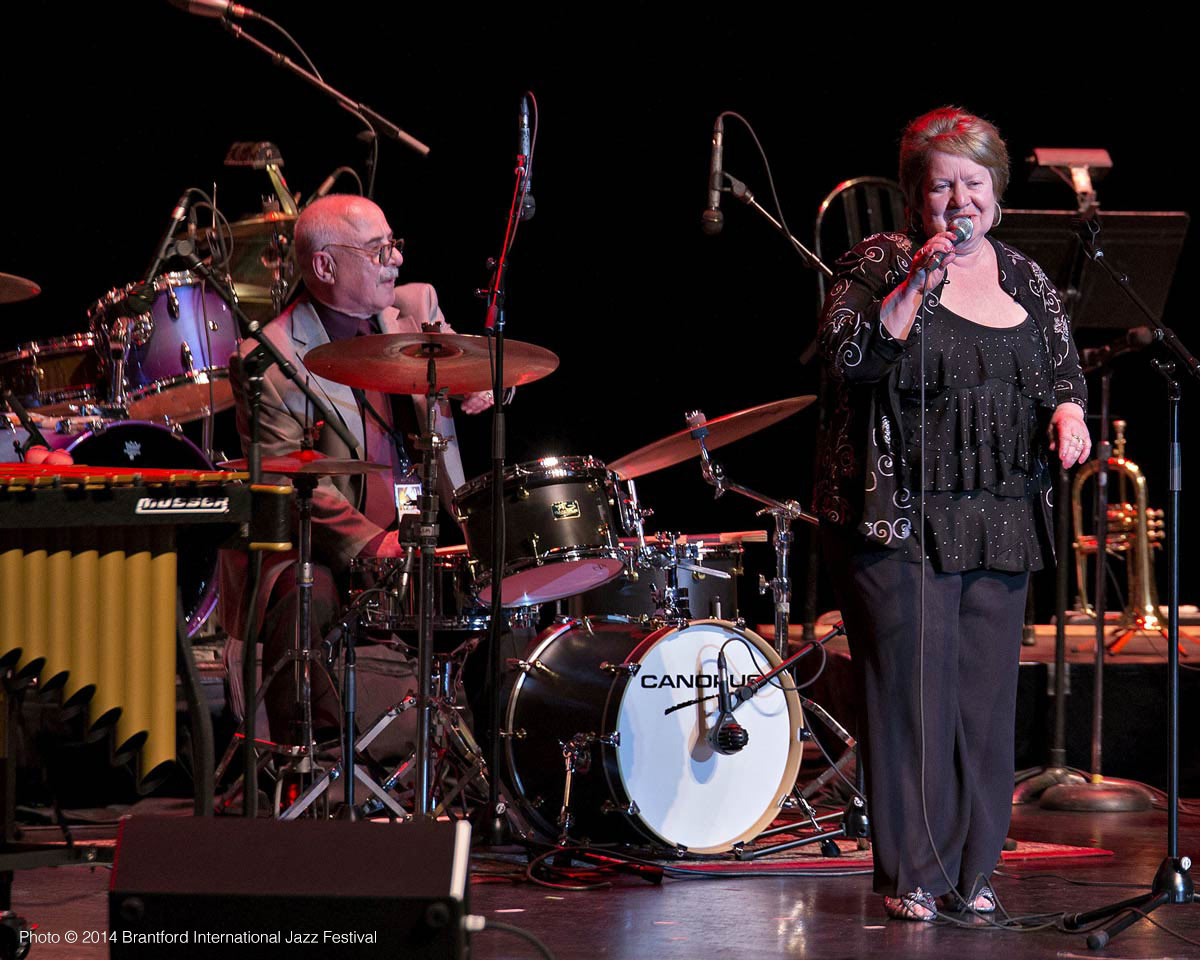 Frank and Nancy DiFelice perform on stage at the Sanderson Centre for the Performing Arts